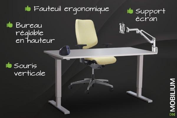 Bureau ergonomique Mobilium ile-de-france